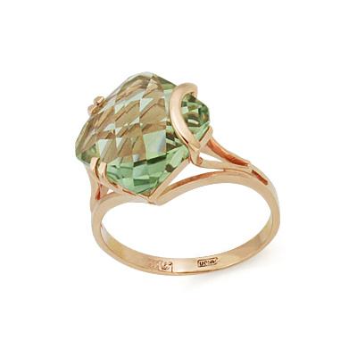 Кольцо с зеленым аметистом (празиолитом) 4.31 г SL-2861-431